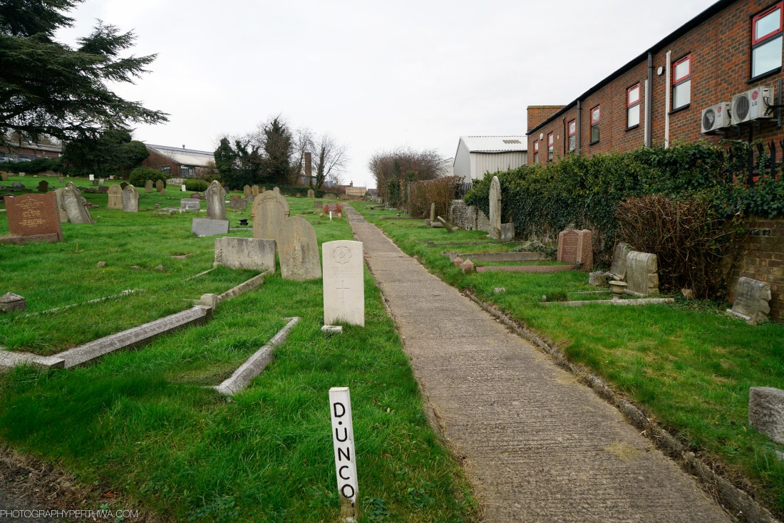 Chesham Cemetary surround the gravesite