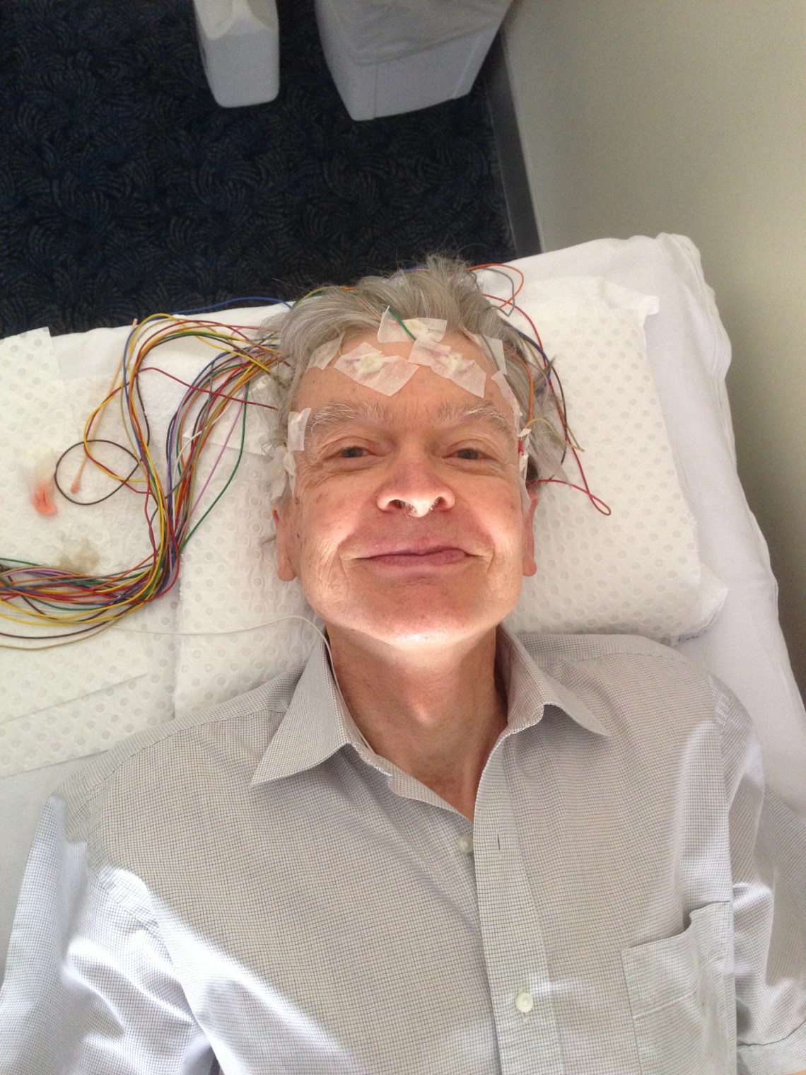 Stephen having EEG