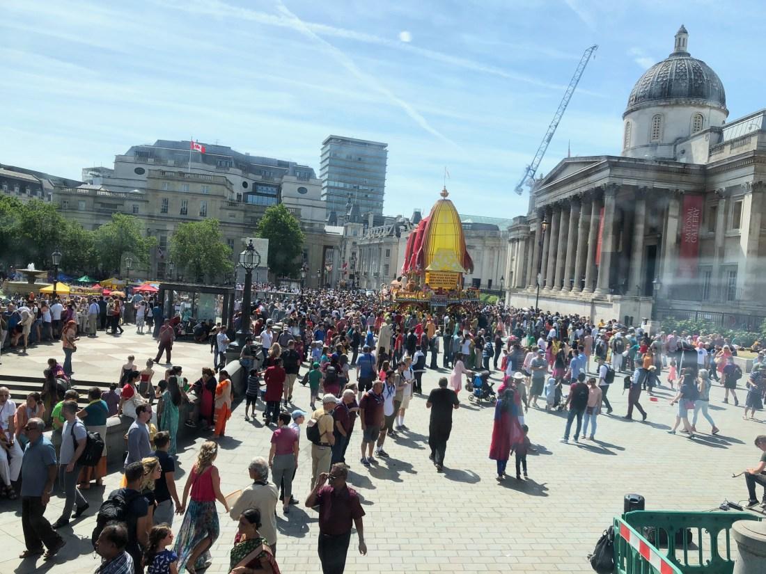 Indian celebration in Trafalgar Square - 1