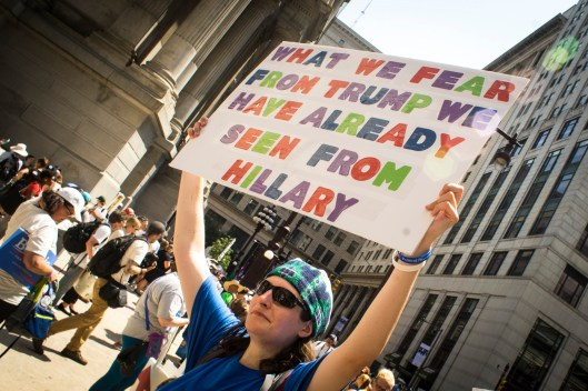 Hillary Protester