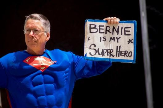 DNC Protest_Bernie is my Superhero