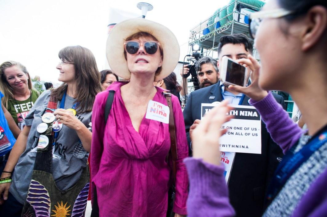 Susan Sarandon at Bernie Walkout_6
