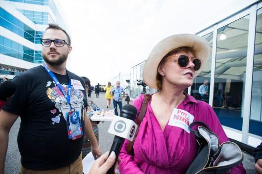 Susan Sarandon at Bernie Walkout_7