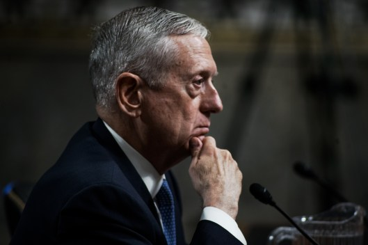 Gen. James Mattis at Hearing for Secretary of Defense