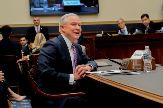 Attorney General Jeff Sessions testifies during House hearing02