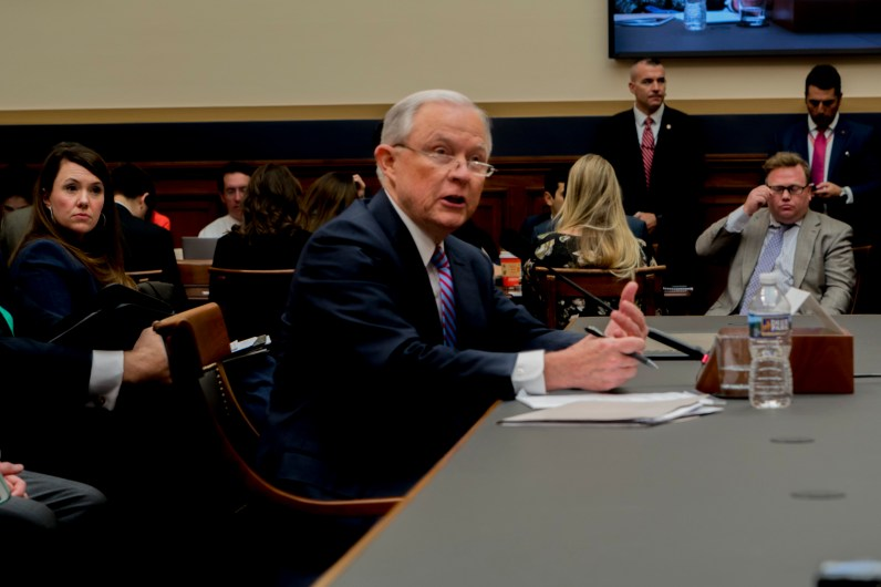 Attorney General Jeff Sessions testifies during House hearing05