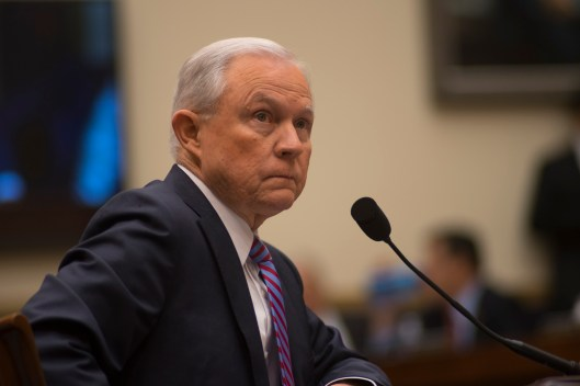 Attorney General Jeff Sessions testifies during House hearing08