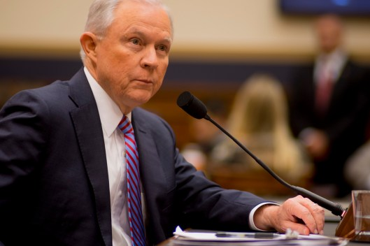 Attorney General Jeff Sessions testifies during House hearing12