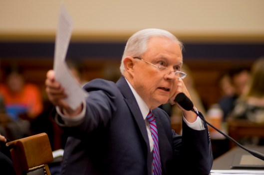 Attorney General Jeff Sessions testifies during House hearing33