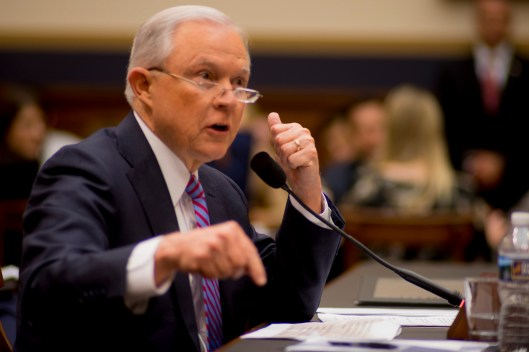 Attorney General Jeff Sessions testifies during House hearing35