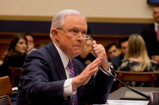 Attorney General Jeff Sessions testifies during House hearing37