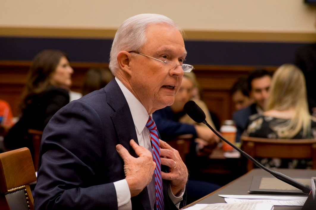 Attorney General Jeff Sessions testifies during House hearing39