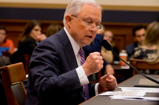 Attorney General Jeff Sessions testifies during House hearing42