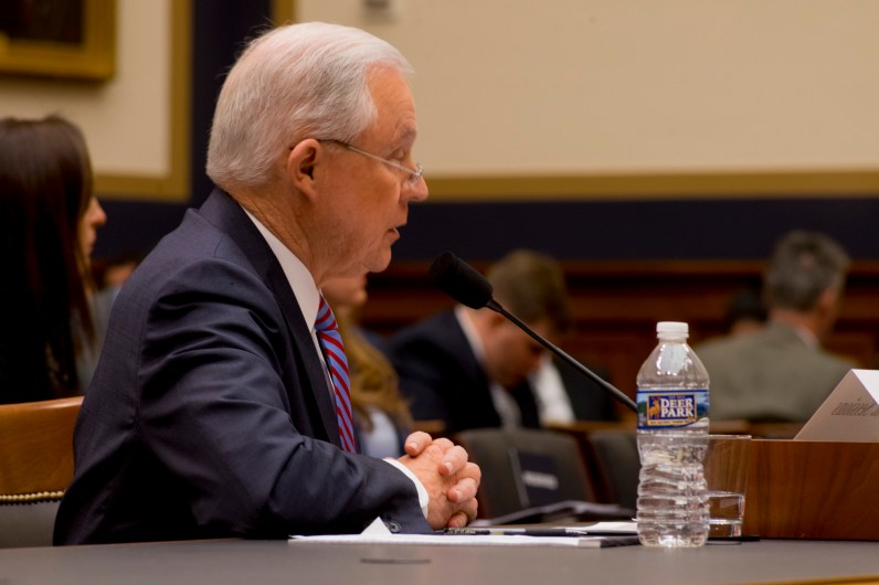 Attorney General Jeff Sessions testifies during House hearing44