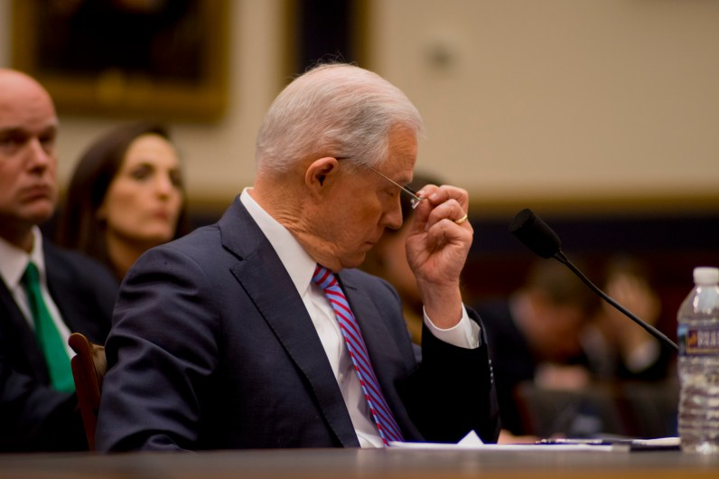 Attorney General Jeff Sessions testifies during House hearing58