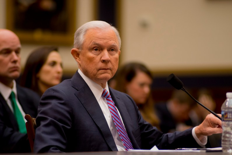 Attorney General Jeff Sessions testifies during House hearing59