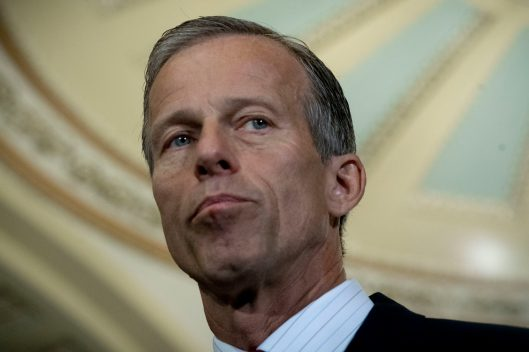 Chairman of the Republican Conference JOHN THUNE (SD) at the Tuesday briefing, July 17, 2018