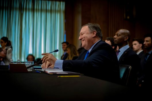 Secretary of State Mike Pompeo testifies before the Senate Foreign Relations Committee, July 25, 2018