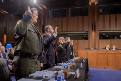 Officials of ICE sworn into the hearing
