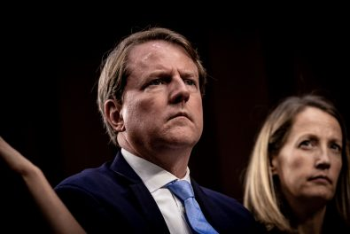 White House Counsel DON MCGAHN during Judge BRETT KAVANAUGH's confirmation hearing, September 5, 2018