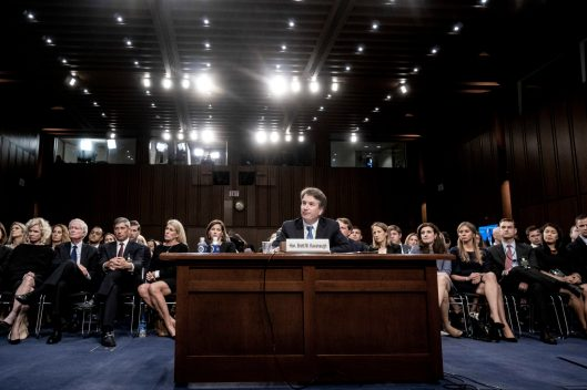 Judge BRETT KAVANAUGH at his confirmation hearing for the Supreme Court, February 5, 2018