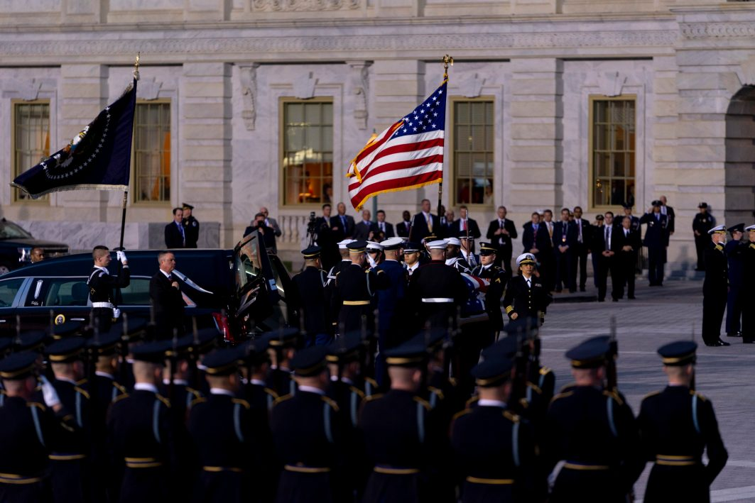 GEORGE HERBERT WALKER BUSH, the 41st President of the United States, is brought to the Capitol Rotunda for a State Funeral, December 3, 2018