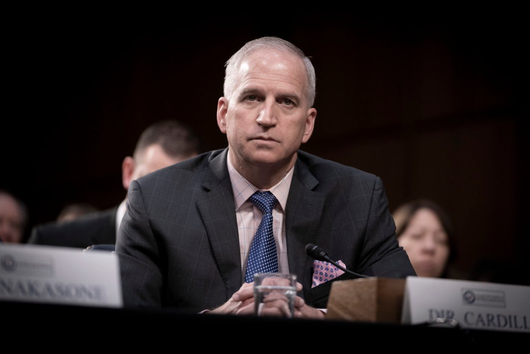 National Geospatial-Intelligence Agency Director ROBERT CARDILLO testifies before the Senate Intelligence hearing on Worldwide Threats in 2019