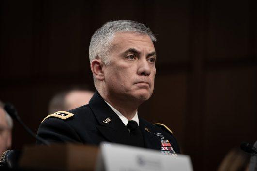 National Security Agency Director General PAUL NAKASONE testifies before the Senate Intelligence hearing on Worldwide Threats in 2019