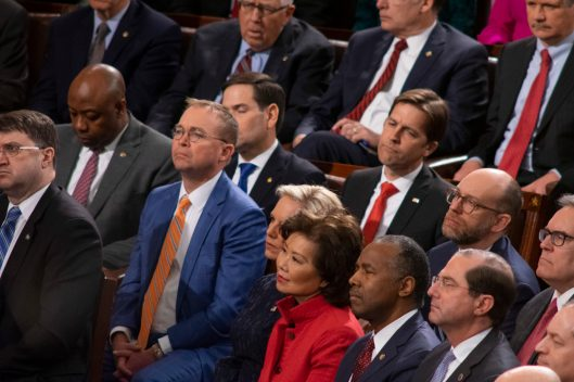 Cabinet members of the administration of President DONALD TRUMP at the State of the Union address, February 5, 2019