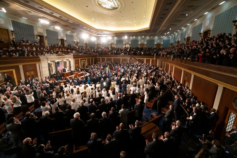 Chamber of the House of Representatives as President DONALD TRUMP delivers the State of the Union address, February 5, 2019