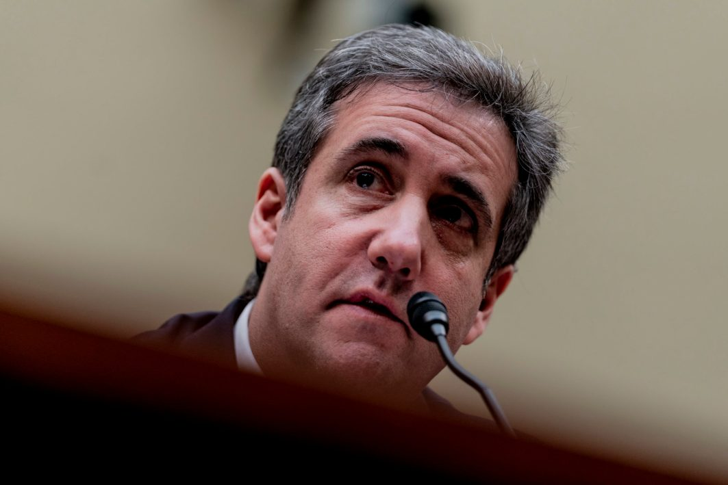 Public hearing of President DONALD TRUMP's former personal attorney MICHAEL COHEN before the House Oversight Committee, February 27, 2019