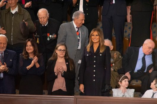First Lady MELANIA TRUMP at the State of the Union address, February 5, 2019