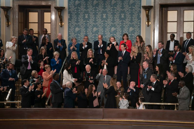 Heroes gallery during the State of the Union address, February 5, 2019