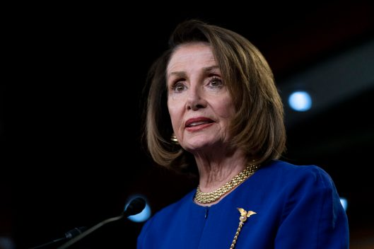 House Speaker NANCY PELOSI gives her weekly press briefing, February 7, 2019