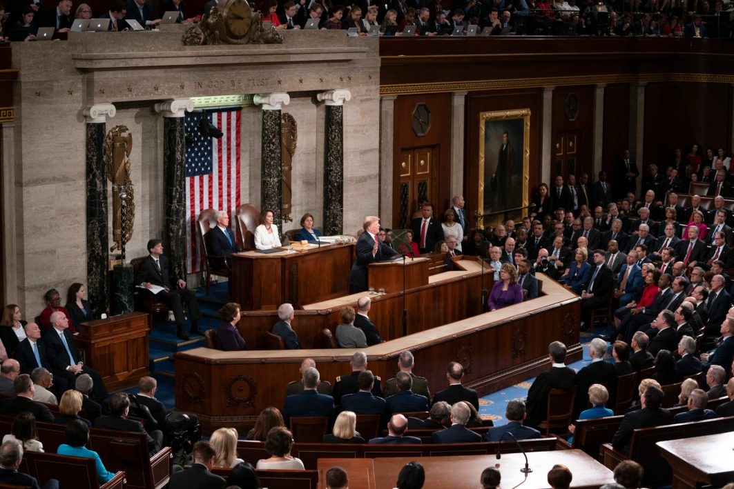 President DONALD TRUMP gives the State of the Union address, February 5, 2019
