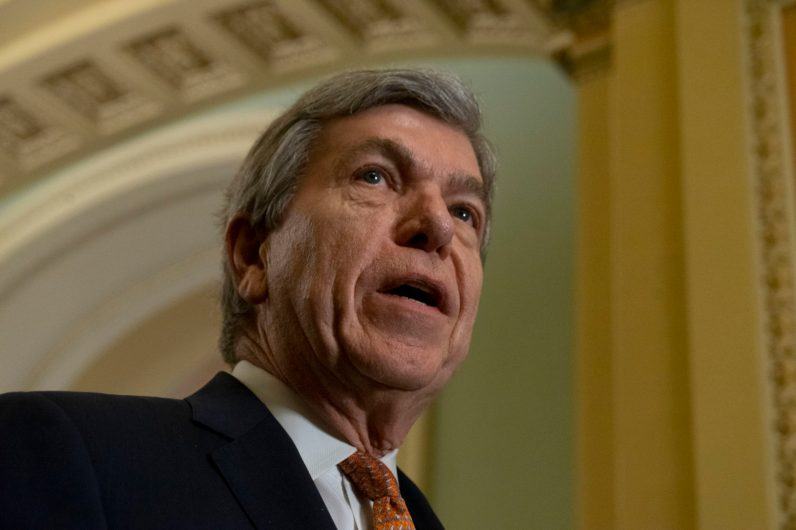 Vice Chair of the Senate Republican Conference ROY BLUNT (R-MO) at the Senate Republican Leadership News Conference, Tuesday February 5, 2019