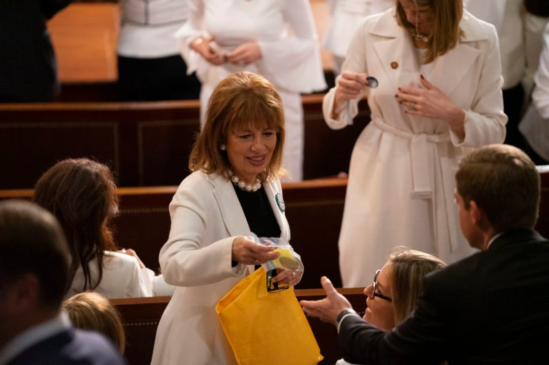 Women Democratic Representatives at the State of the Union address, February 5, 2019