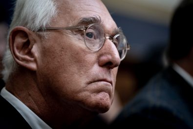 Roger Stone watches as Sundar Pichai, CEO of Google, testifies before the House Judiciary Committee, focusing on Transparency & Accountability: Examining Google and its Data Collection, Use and Filtering Practices