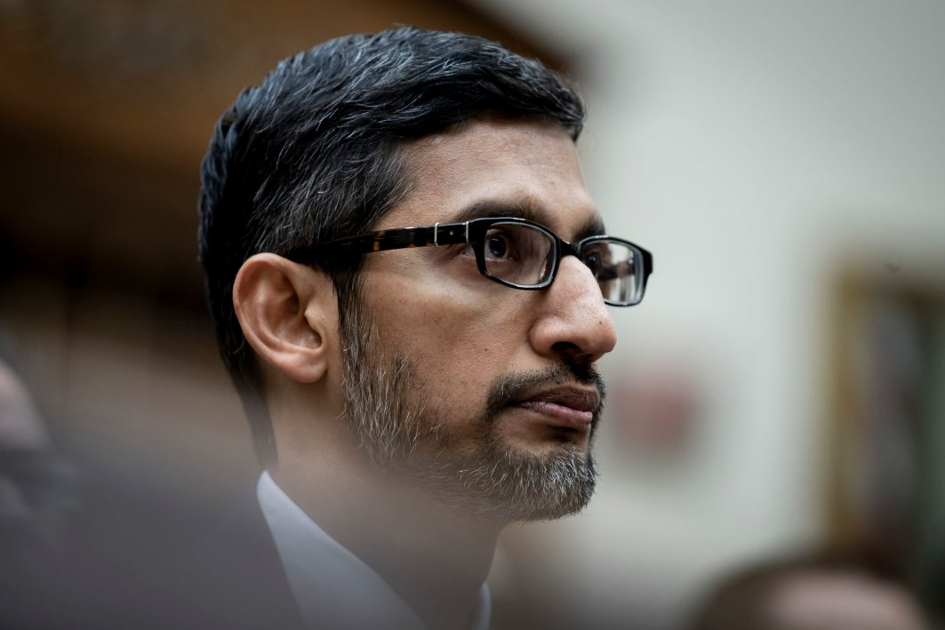 Sundar Pichai, CEO of Google, testifies before the House Judiciary Committee, focusing on Transparency & Accountability: Examining Google and its Data Collection, Use and Filtering Practices