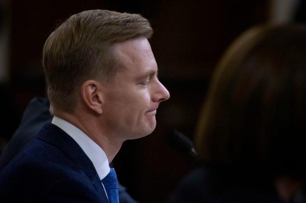 U.S. diplomat DAVID HOLMES, testifies before the House Intelligence Committee, November 21, 2019
