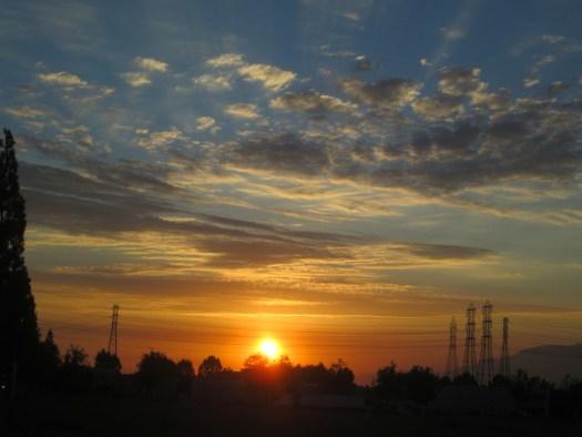 The Orange Hued Sunset