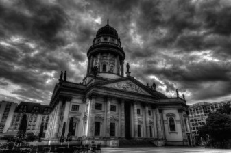 Deutscher Dom under dark sky (Berlin 2011)