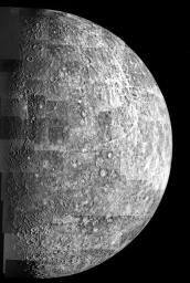 Mariner 10 map of Mercury
