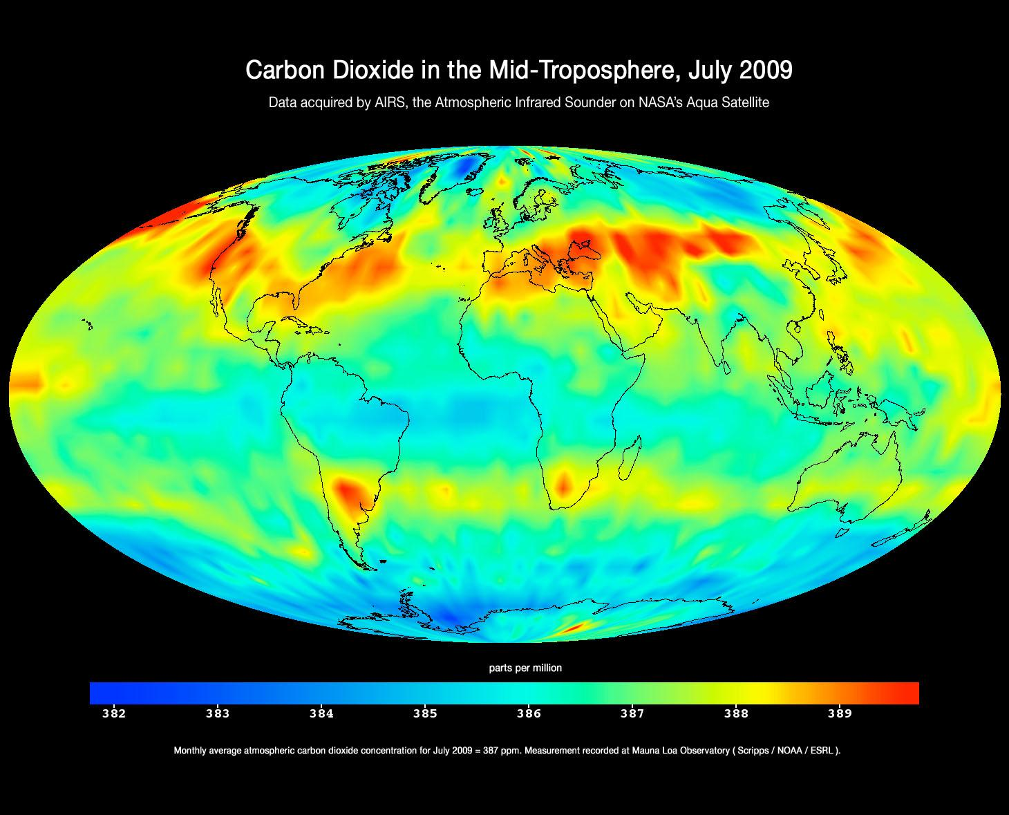 NASA CO2 Levels Globally