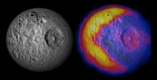 mimas temperatures