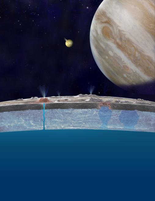 Artist's concept of Europa's oceans