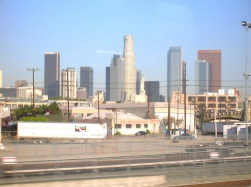 LA Skyline from the train