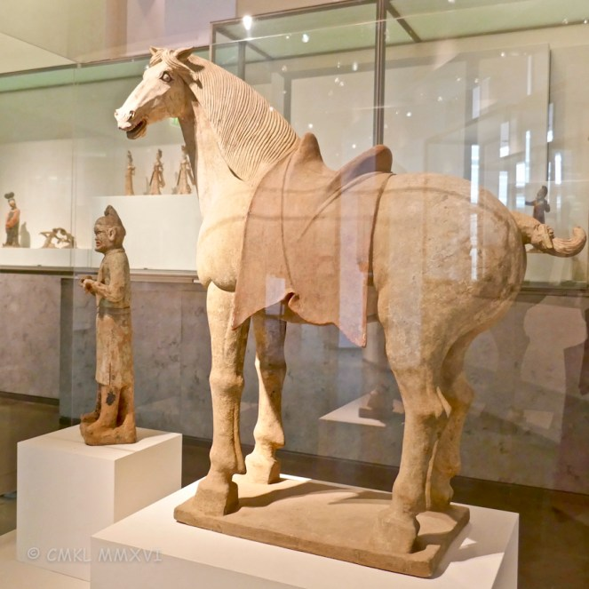 Horse with his foreign groom, Tang Dynasty