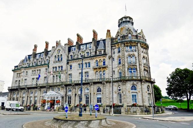The majestic Duke of Cornwall hotel around the corner