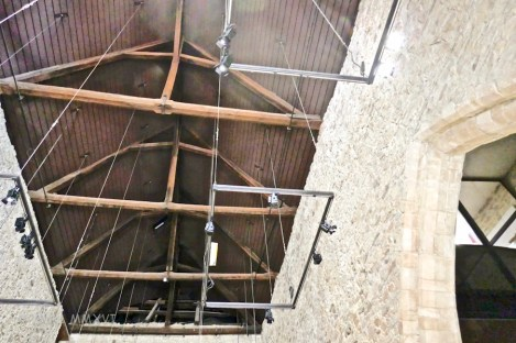 Soaring ceilings in the former market hall